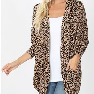 NEW!!! LEOPARD CARDIGAN WITH POCKETS